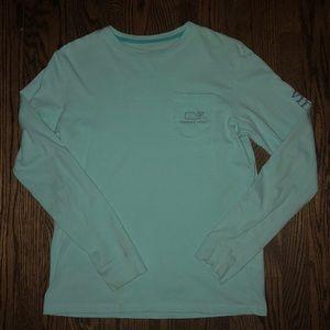 Vineyard Vines Boys Yth L (16) Lt Blue t-shirt